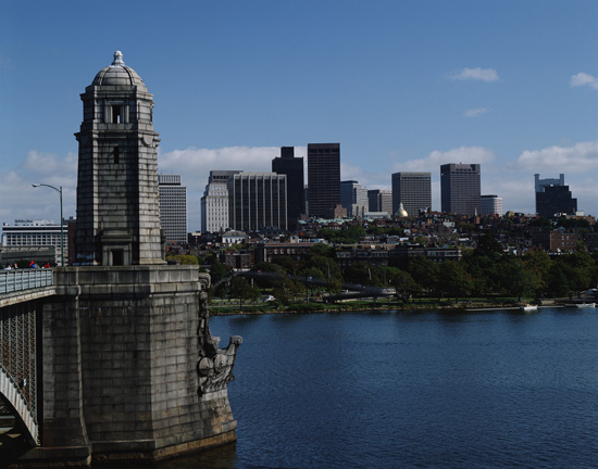 Longfellow Bridge and Boston Skyline