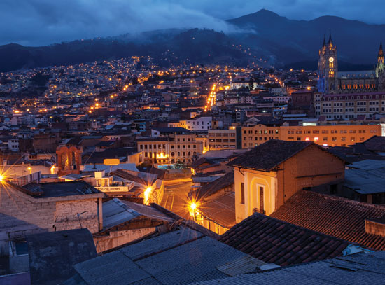 Quito Old Town at Night