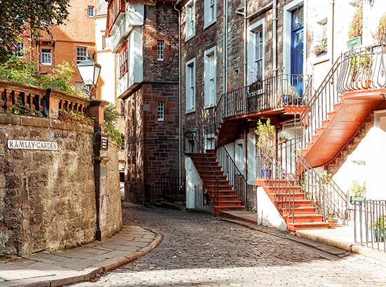 Quiet Street in Edinburgh
