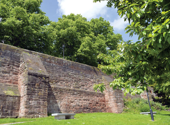 Chester City wall