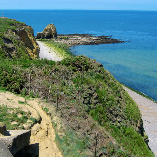 Northern coastline in France