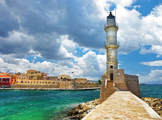 Chania port view