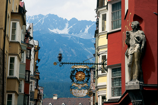 View of the Alps from Innsbruck