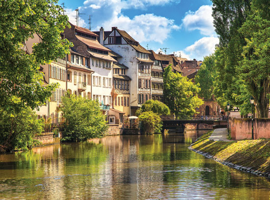 Strasbourg water canal in Petite France area