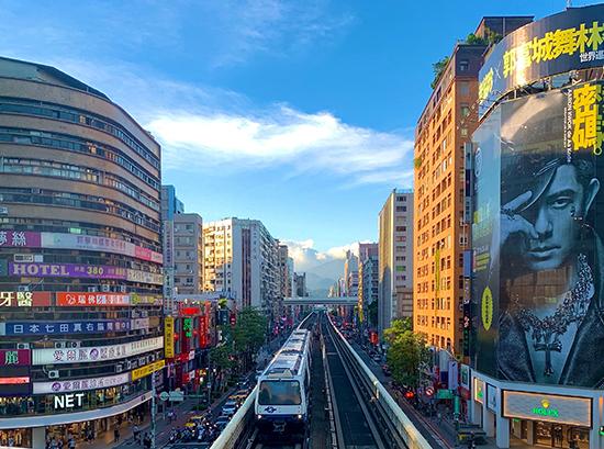 Taipei Street and Metro Cars